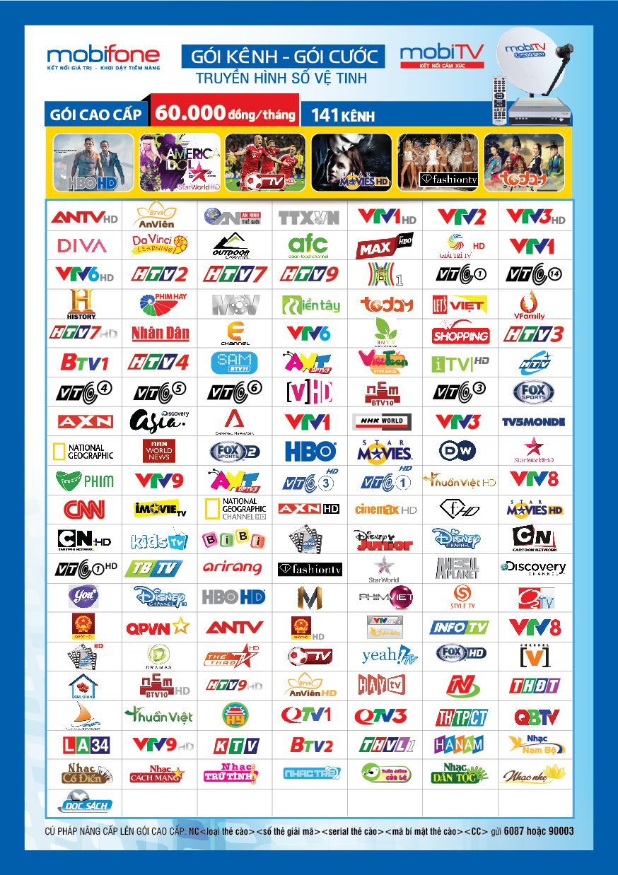 Truyen hinh MobiTV ve tinh
