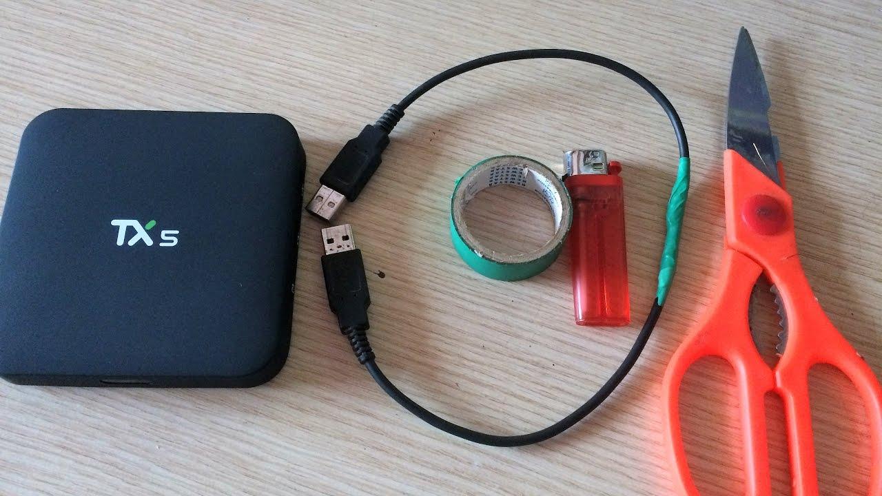 USB 2 đầu dùng để up rom android box